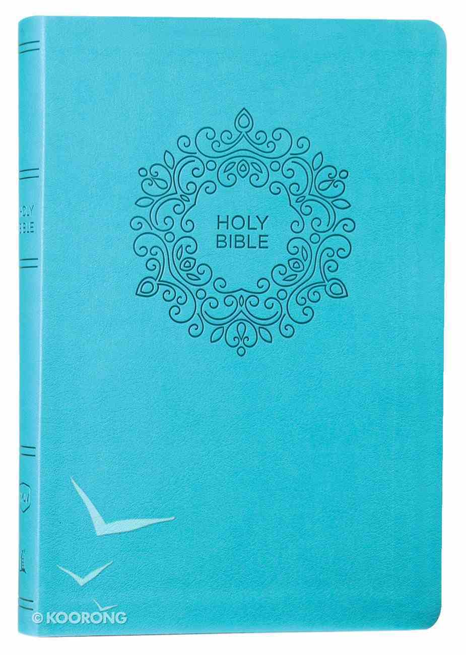NKJV Value Thinline Bible Large Print Turquoise (Red Letter Edition) Premium Imitation Leather