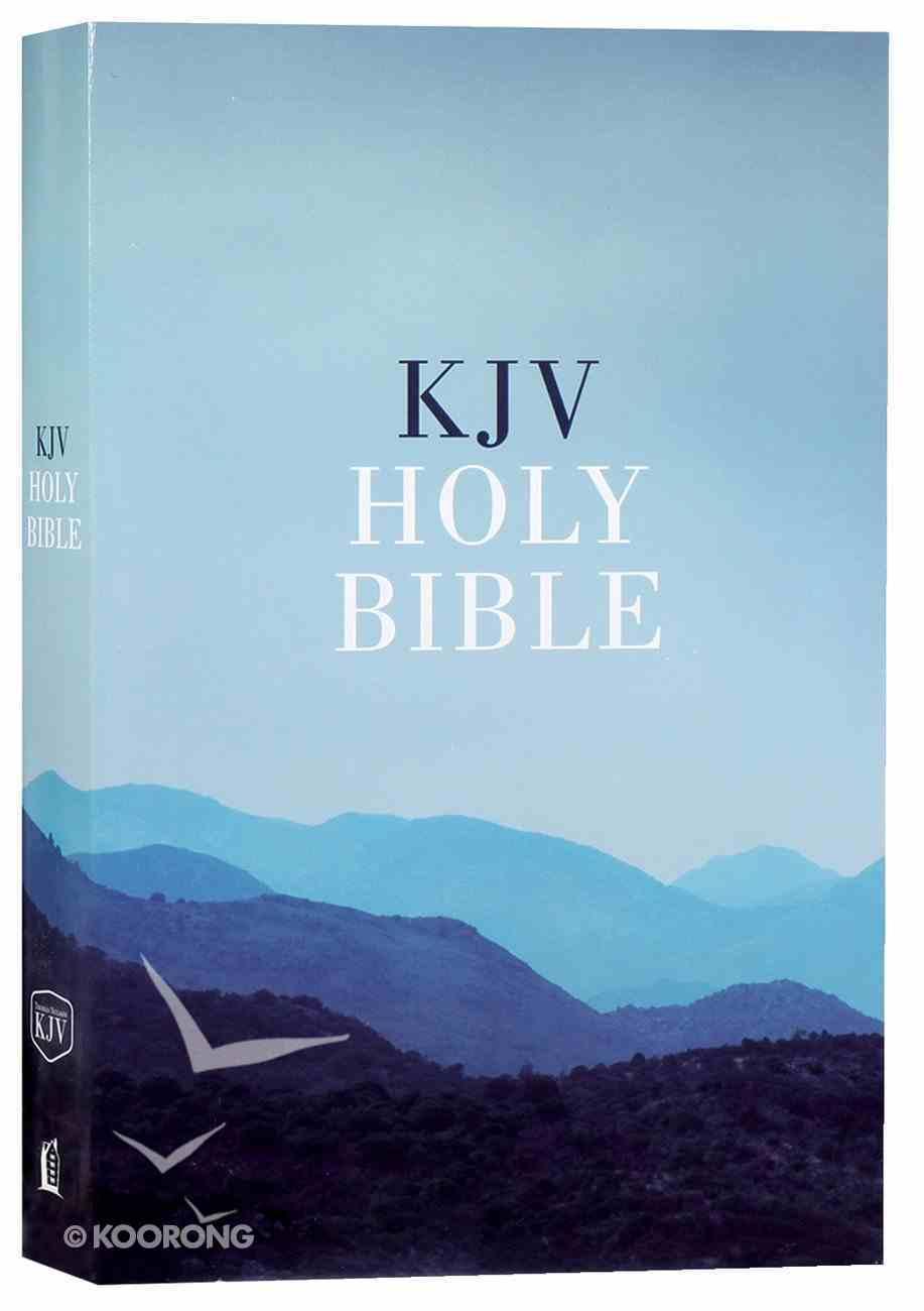 KJV Value Outreach Bible Blue Scenic Paperback