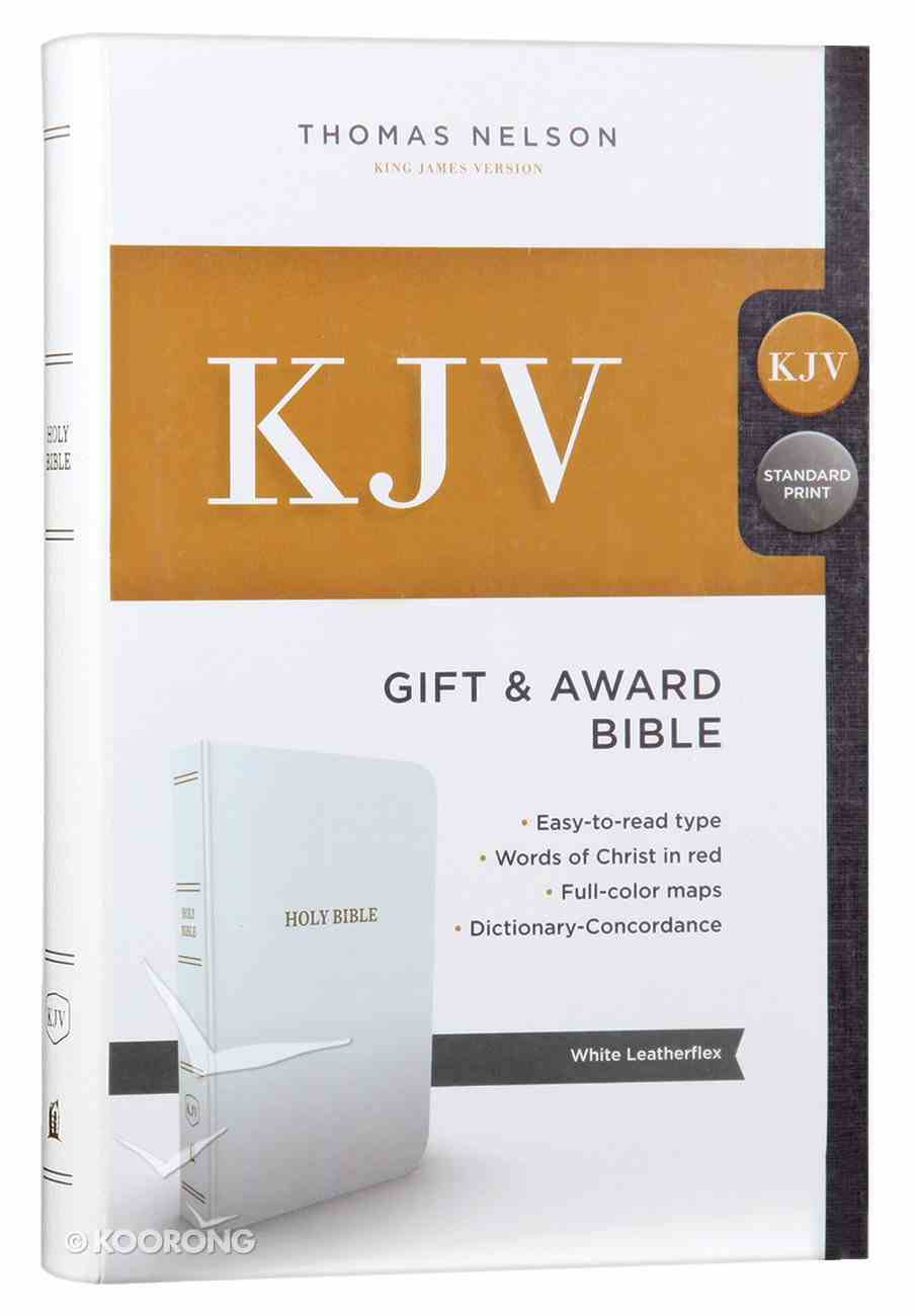KJV Gift and Award Bible White (Red Letter Edition) Imitation Leather