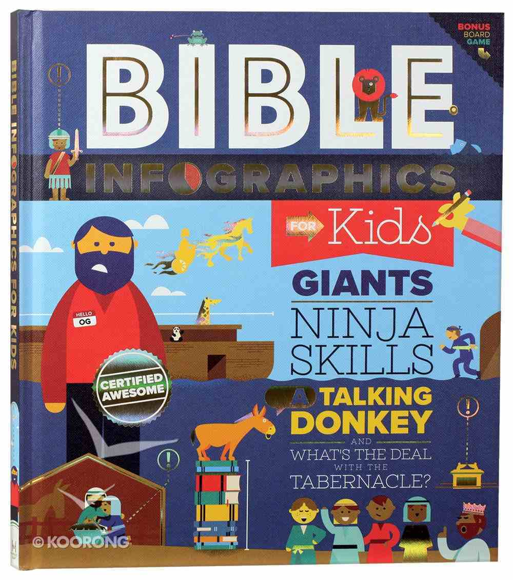 Bible Infographics For Kids: Giants, Ninja Skills, a Talking Donkey, and What's the Deal With the Tabernacle? (Vol 1) Hardback