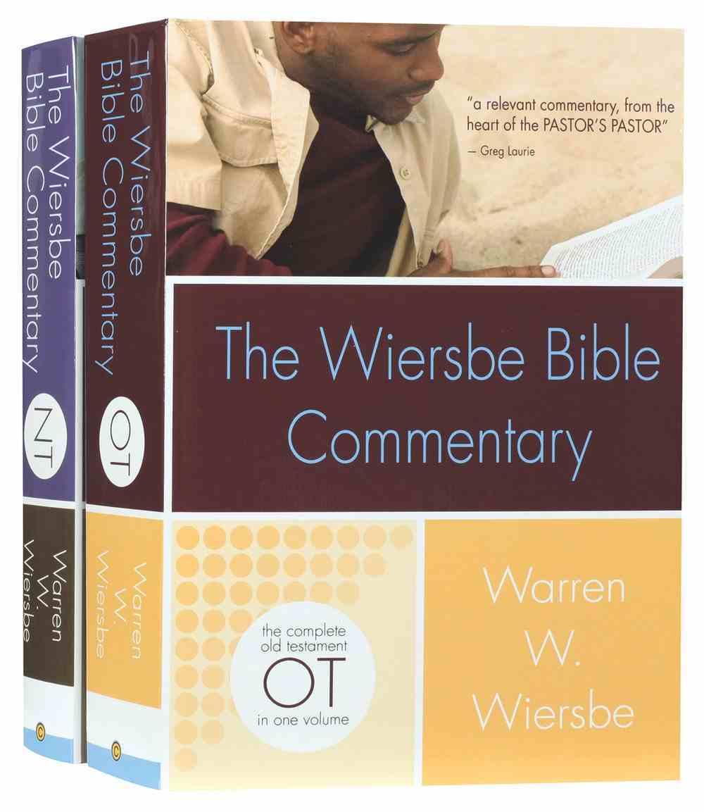 Wiersbe Bible Commentary 2 Volume Set Hardback