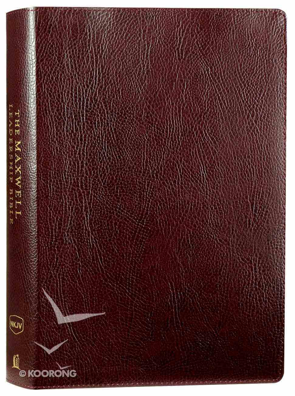 NKJV Maxwell Leadership Bible Burgundy (Third Edition) Bonded Leather