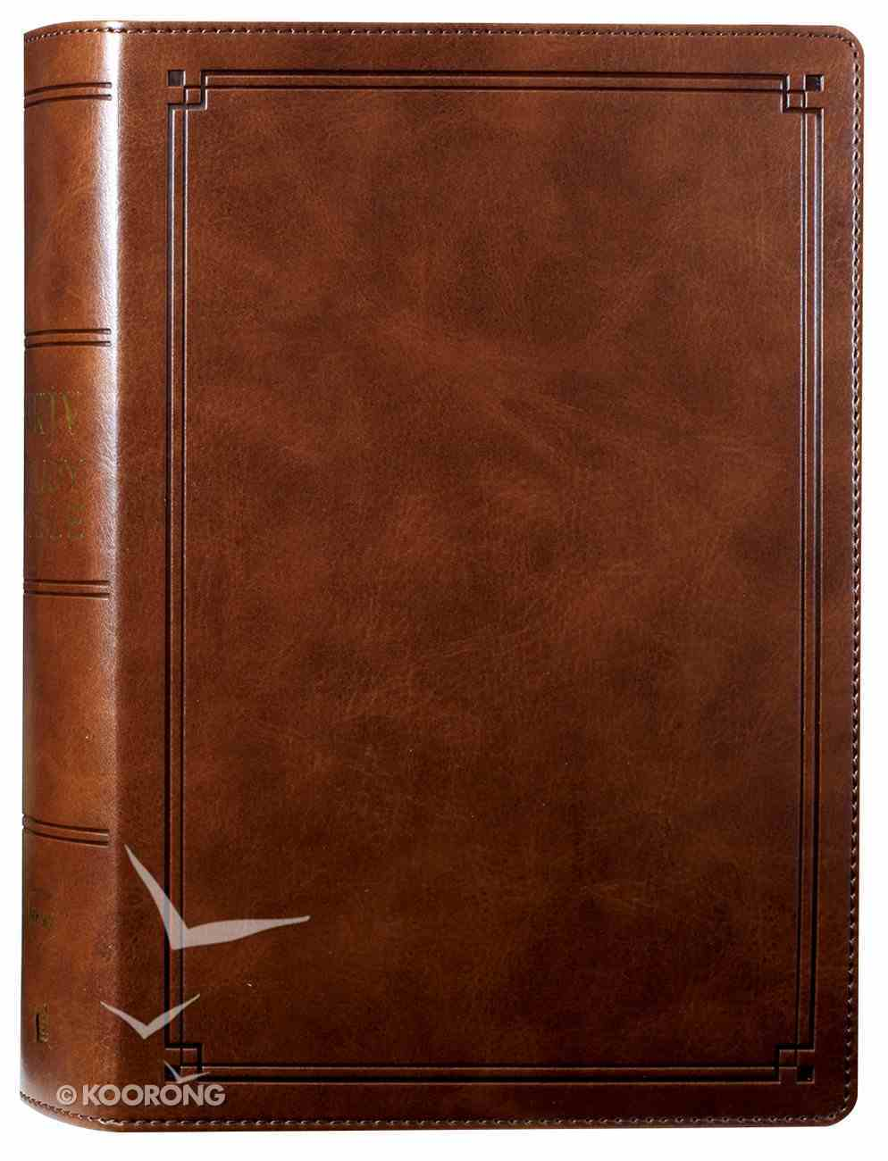 NKJV Study Bible Brown (Black Letter Edition) Imitation Leather