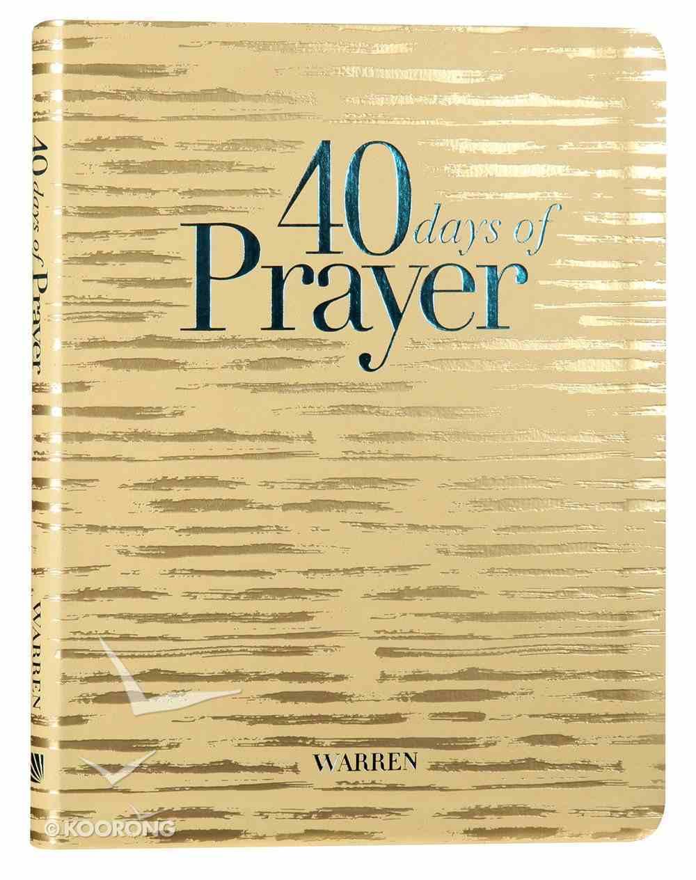 40 Days of Prayer (Workbook) Paperback
