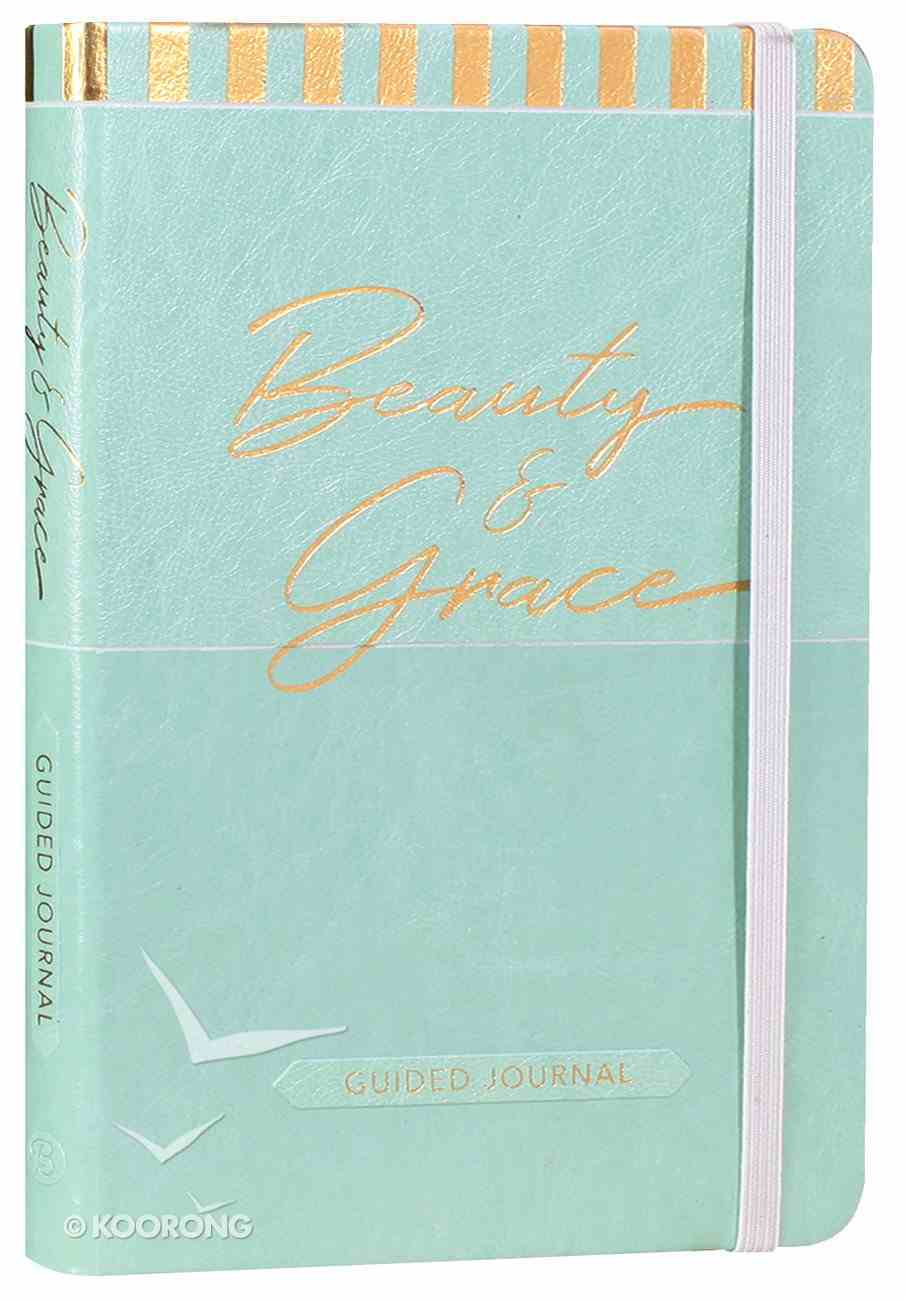 Guided Journal: Beauty & Grace (Pale Blue Luxleather) Imitation Leather