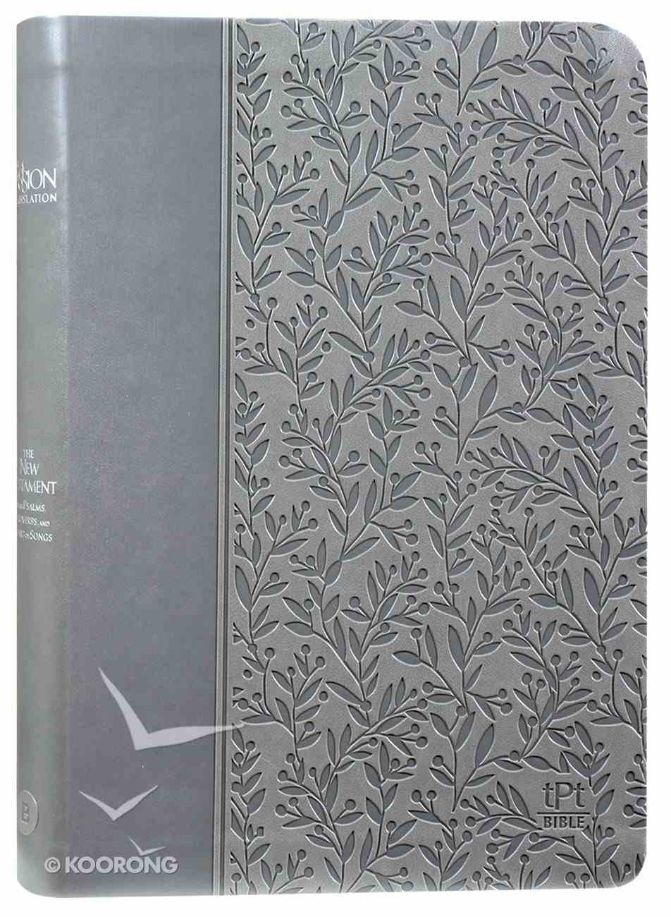 TPT New Testament Gray (2nd Edition) (Black Letter Edition) (With Psalms Proverbs And Song Of Songs) Imitation Leather