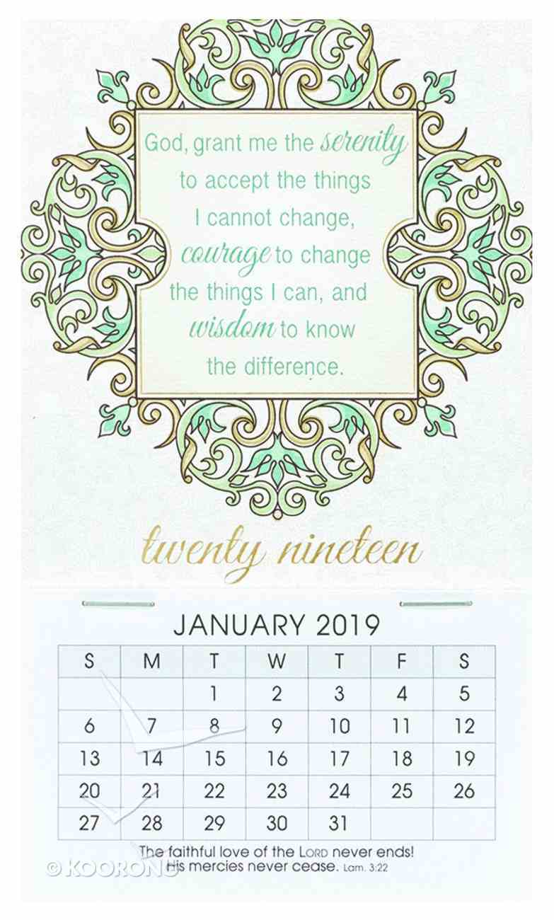 2019 Mini Magnetic Calendar: God Grant Me the Serenity.... Calendar