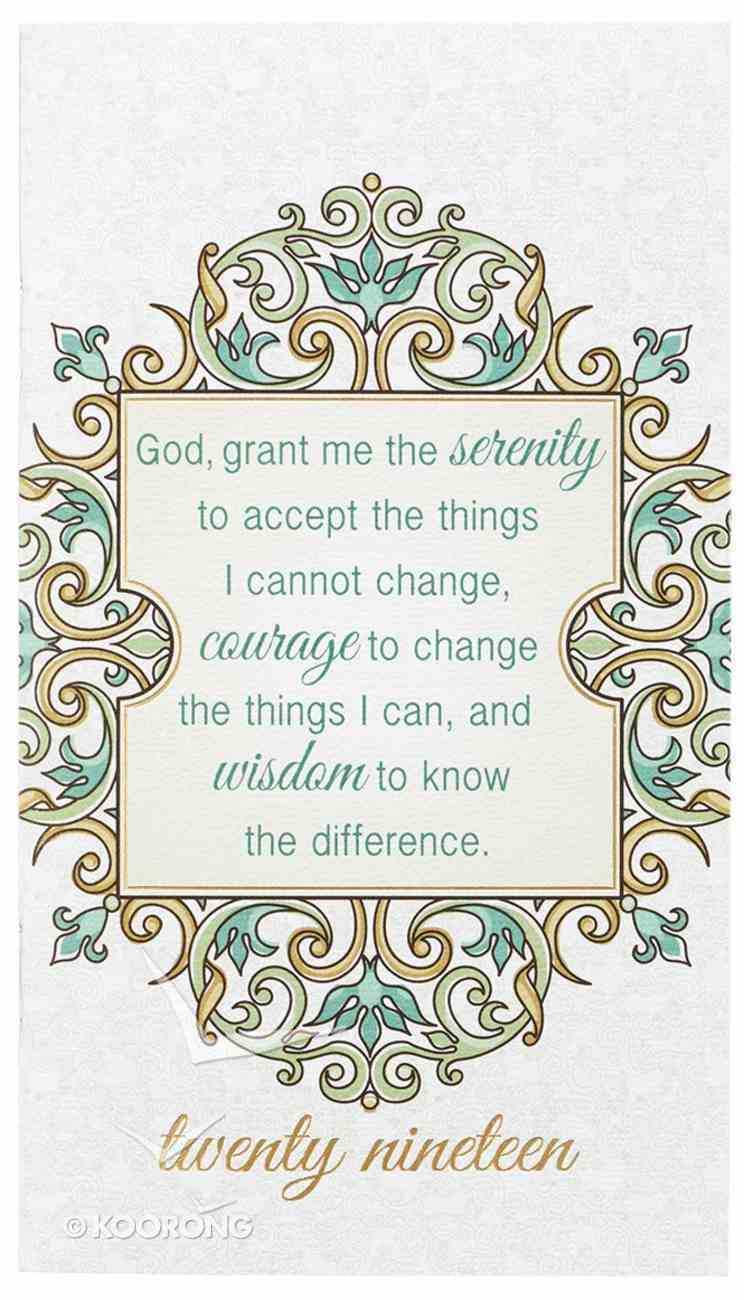 2019 Small Daily Diary/Planner: God Grant Me the Serenity.... Paperback
