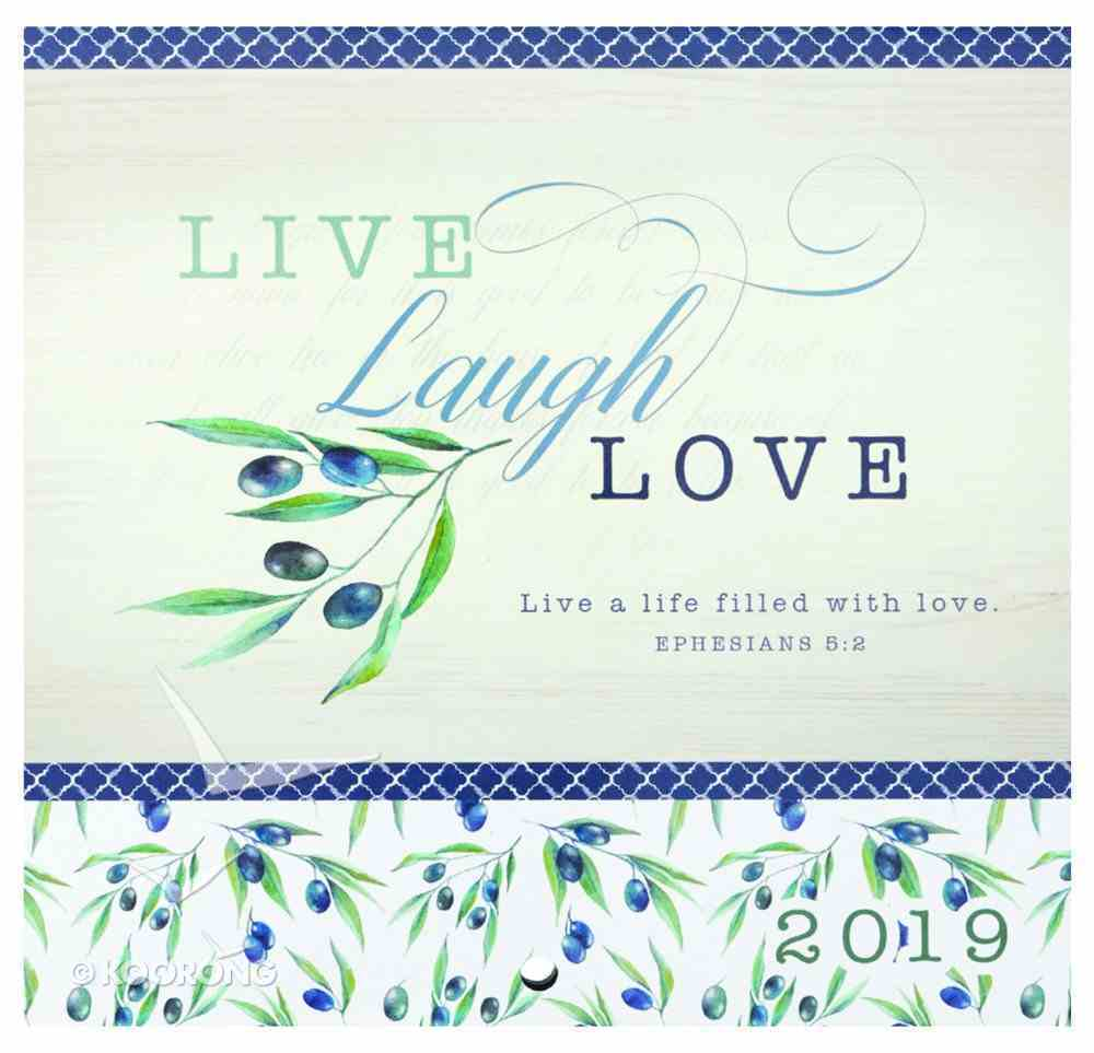 2019 Small Calendar: Live, Laugh, Love Calendar