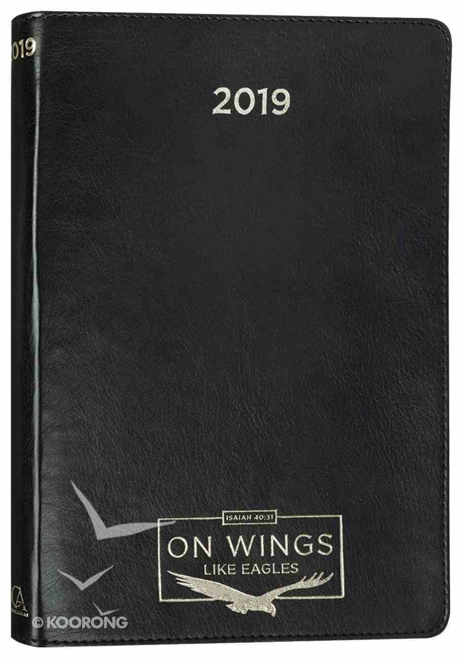 2019 Executive 12-Month Diary/Planner: On Wings Like Eagles, Black/Gold Imitation Leather
