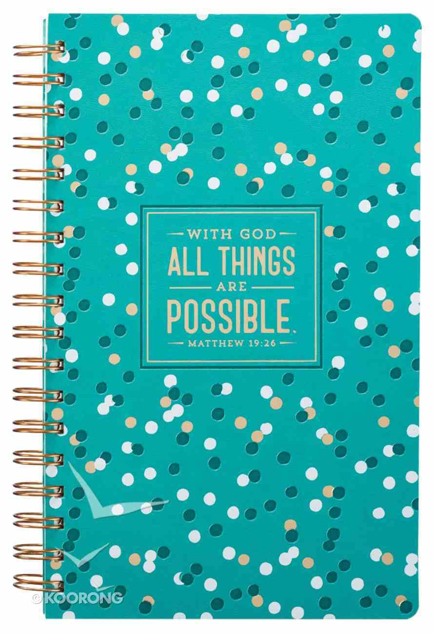 Spiral Journal: All Things Are Possible, Colored Dots Spiral