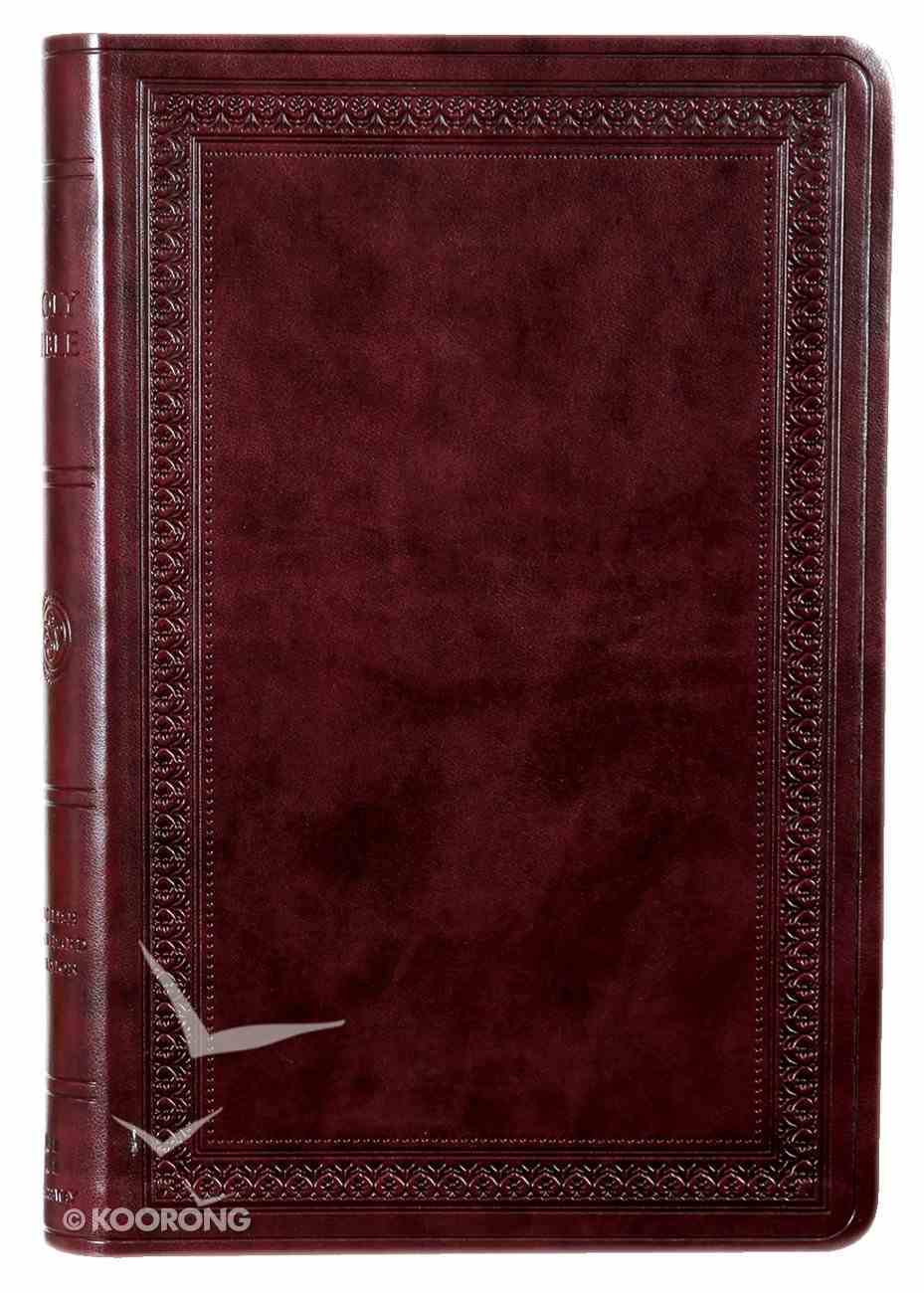 ESV Large Print Value Thinline Bible Mahogany Border (Black Letter Edition) Imitation Leather