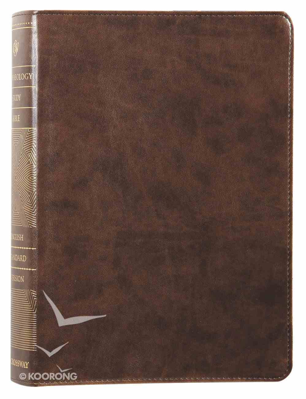 ESV Archaeology Study Bible Brown (Black Letter Edition) Imitation Leather