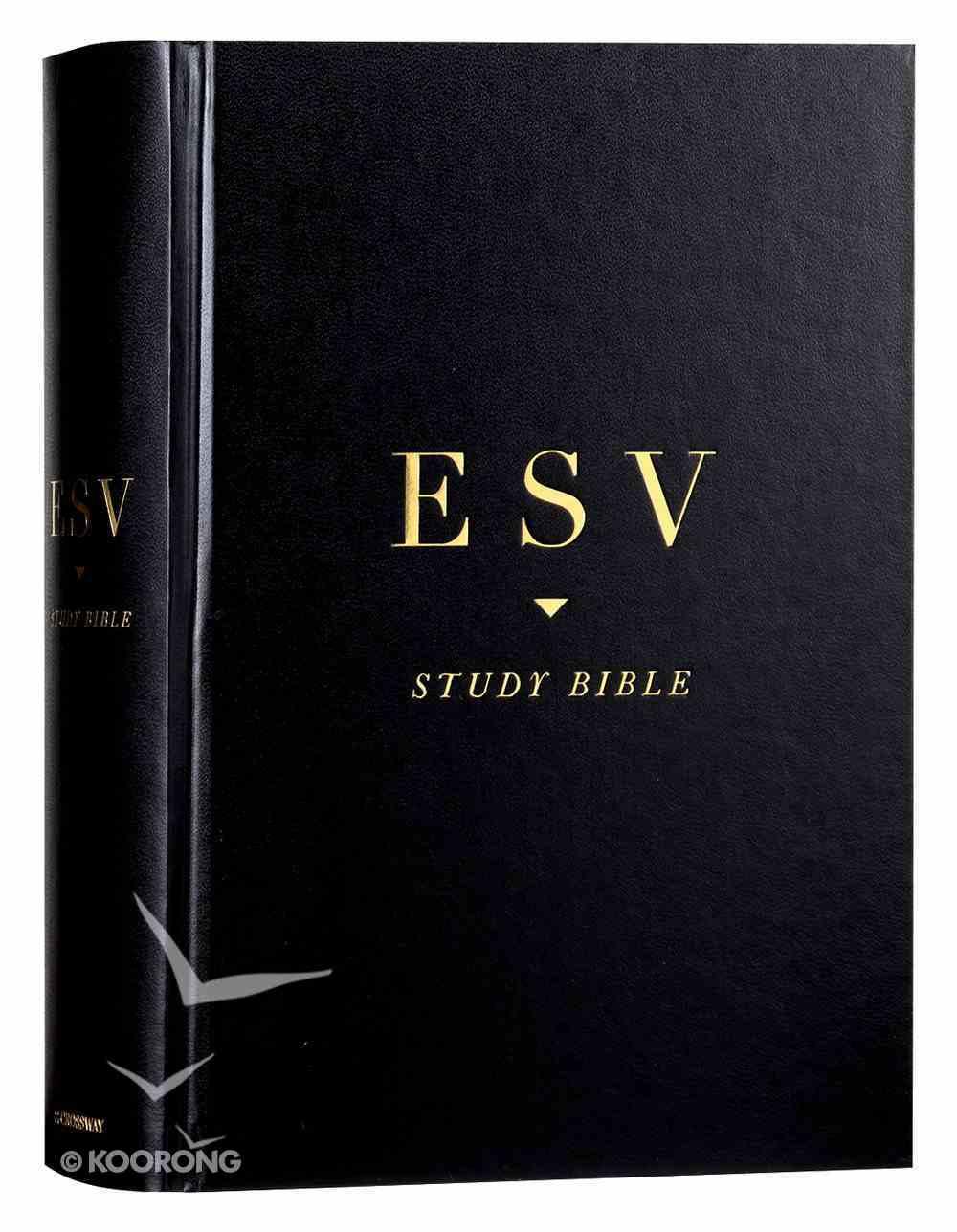 ESV Study Bible Black (Black Letter Edition) Hardback