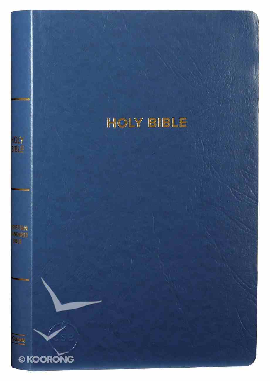 CSB Gift & Award Bible Blue Red Letter Edition Imitation Leather