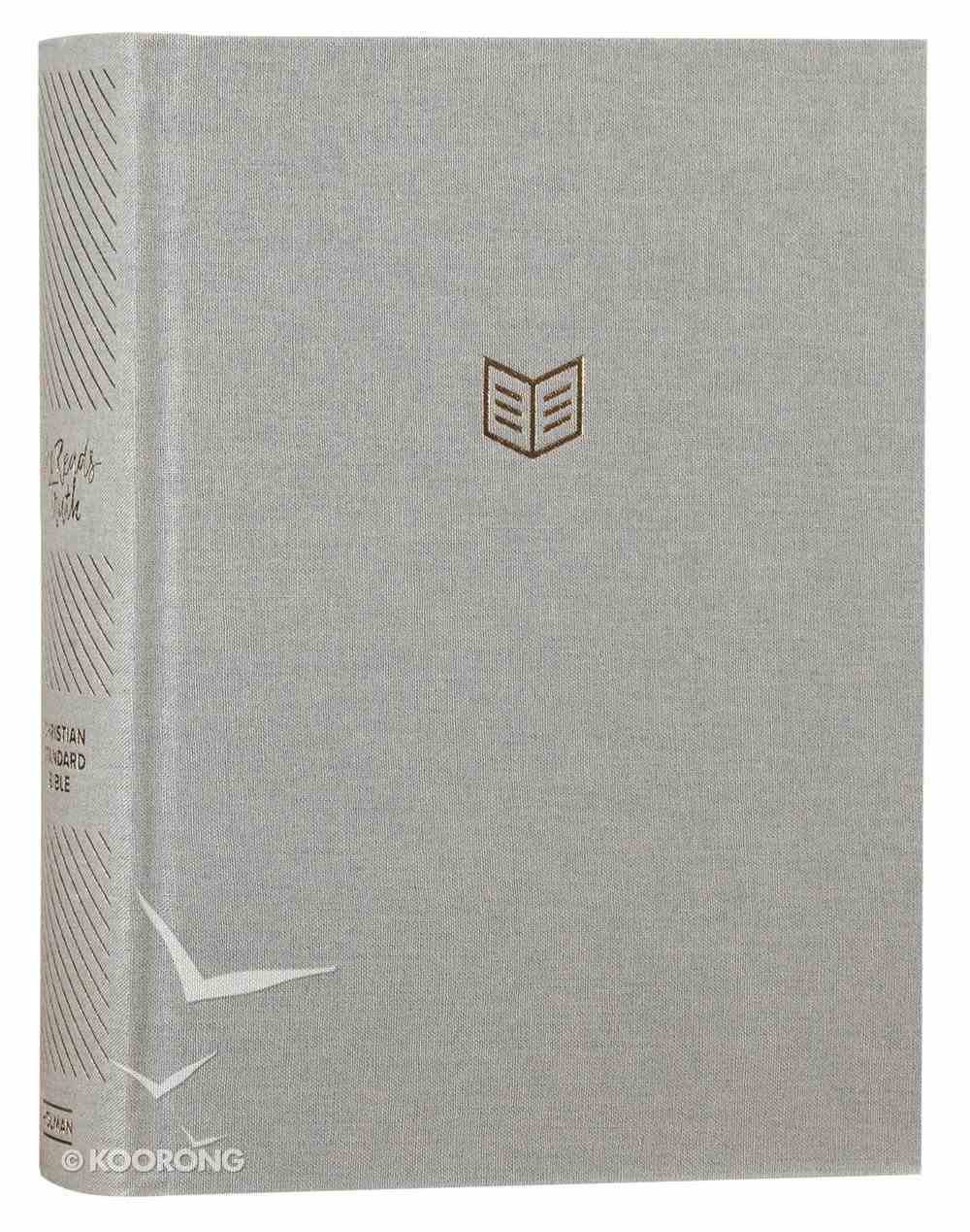 CSB She Reads Truth Bible Gray Linen Fabric Over Hardback