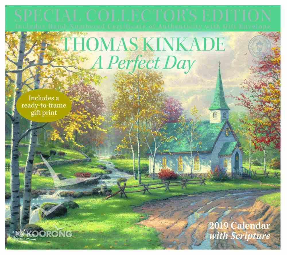 2019 Wall Calendar: Thomas Kinkade Special Collector's Edition a Perfect Day Calendar