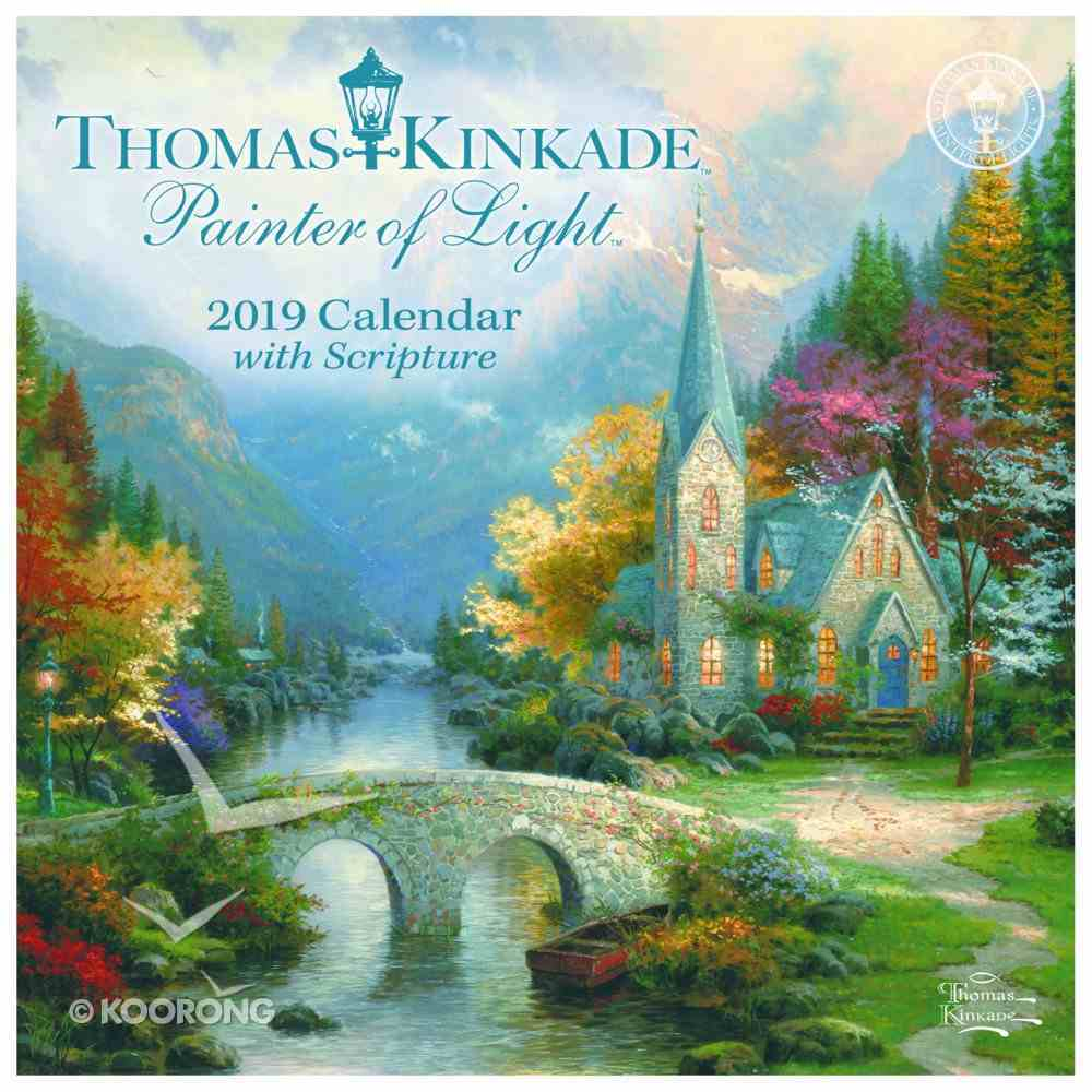 2019 Mini Wall Calendar: Thomas Kinkade Painter of Light Calendar