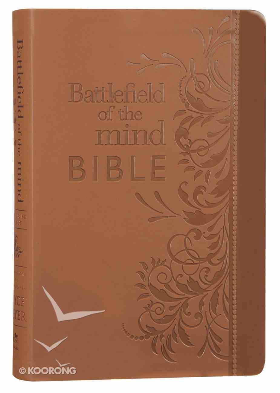 Amplified Battlefield of the Mind Bible Brown Imitation Leather