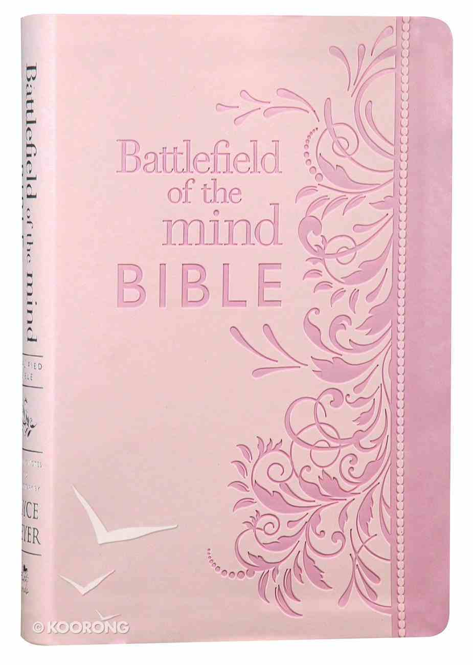 Amplified Battlefield of the Mind Bible Pink Imitation Leather