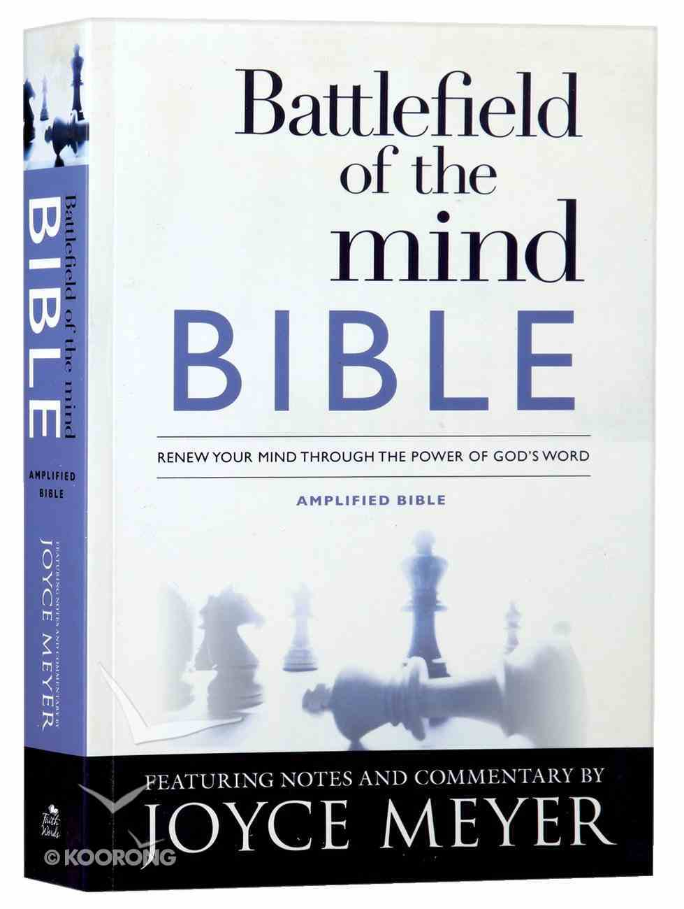Amplified Battlefield of the Mind Bible Paperback