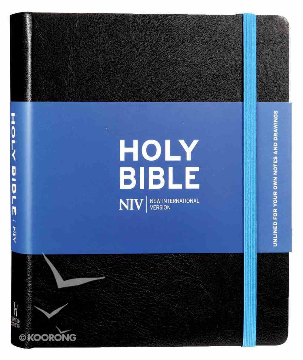 NIV Journalling Bible Black With Unlined Margins Hardback