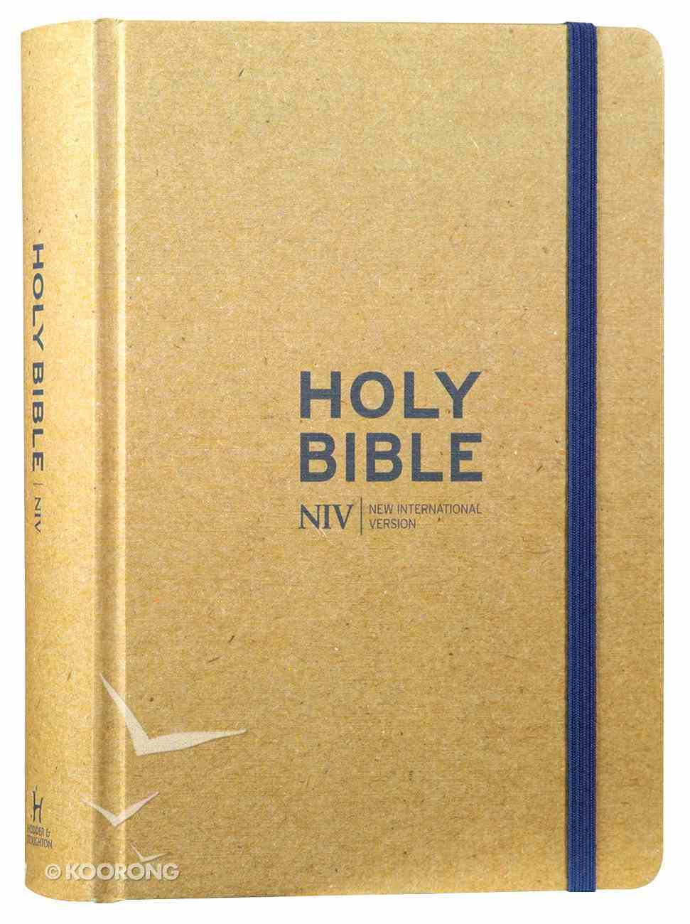 NIV Journalling Bible Tan With Elastic Strap Hardback