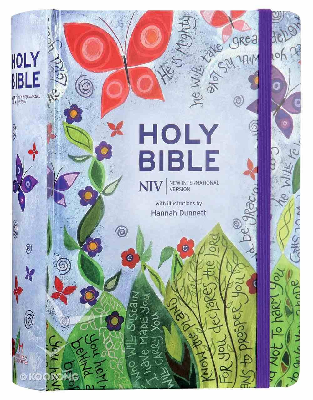 NIV Journalling Bible With Elastic Strap (Illustrated By Hannah Dunnett) Hardback