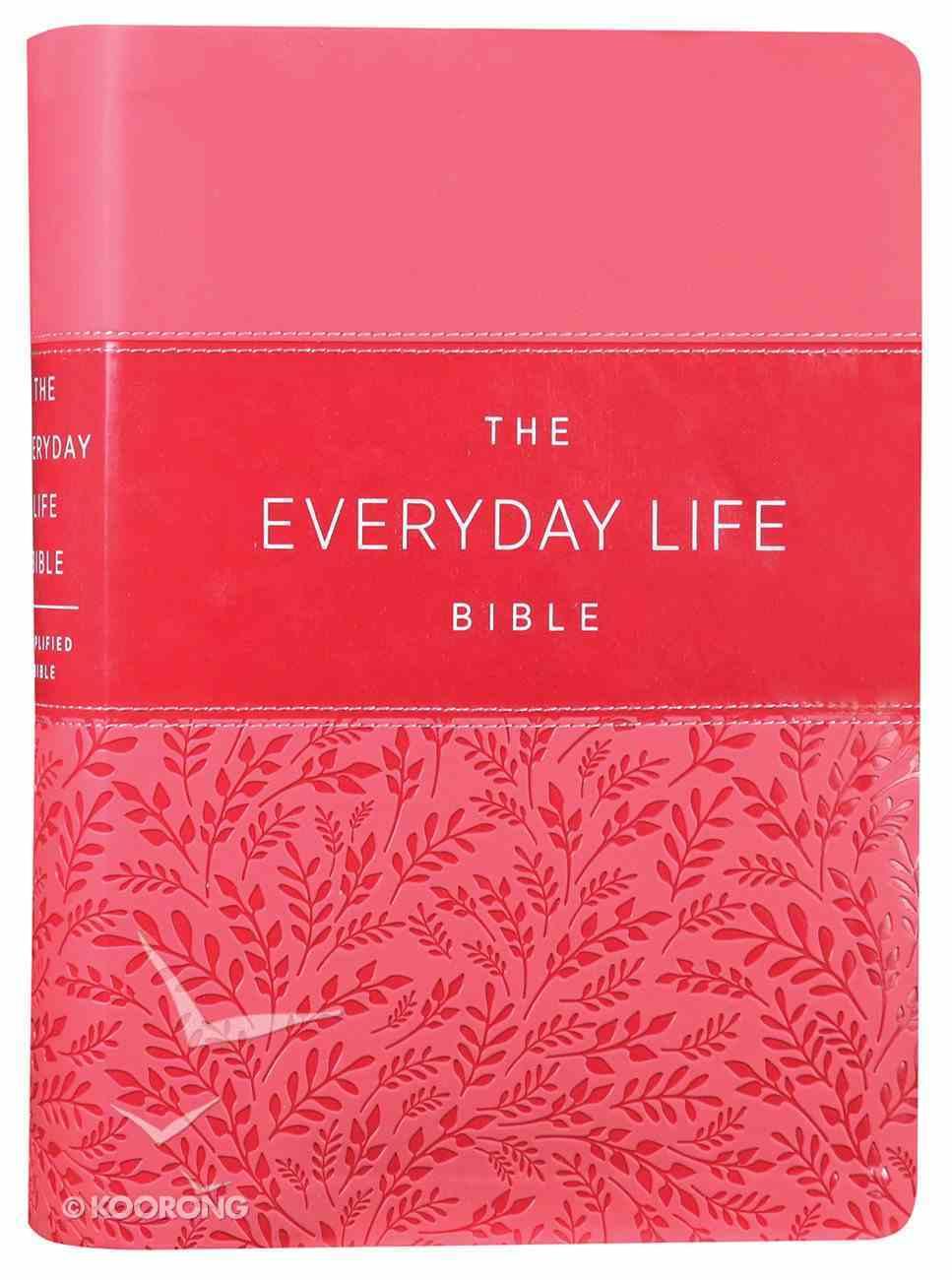 Amplified Joyce Meyer New Everyday Life Bible Pink Imitation Leather