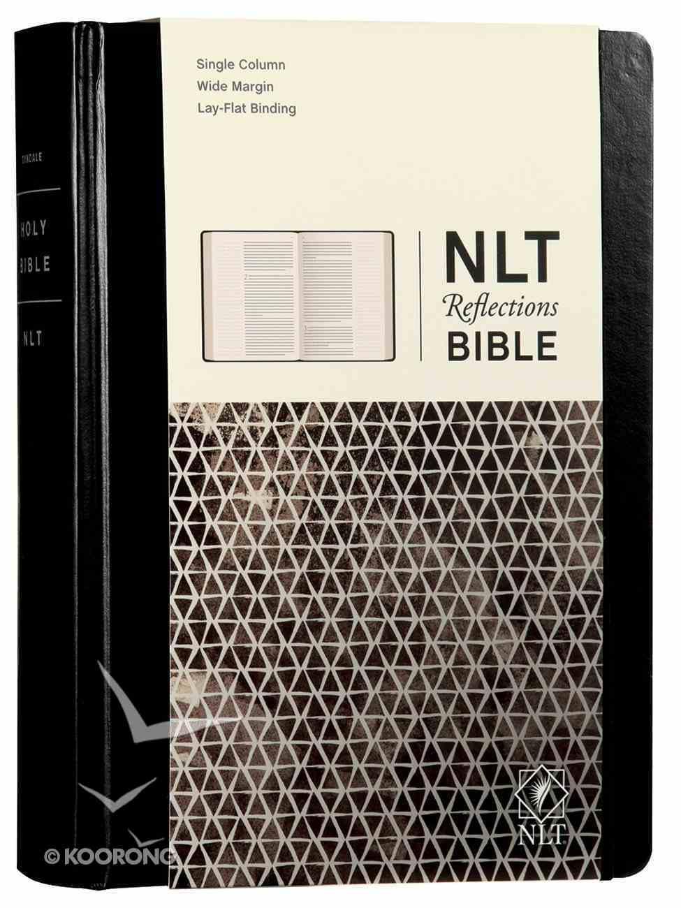 NLT Reflections Bible Sketchbook Black (Black Letter Edition) Imitation Leather Over Hardback