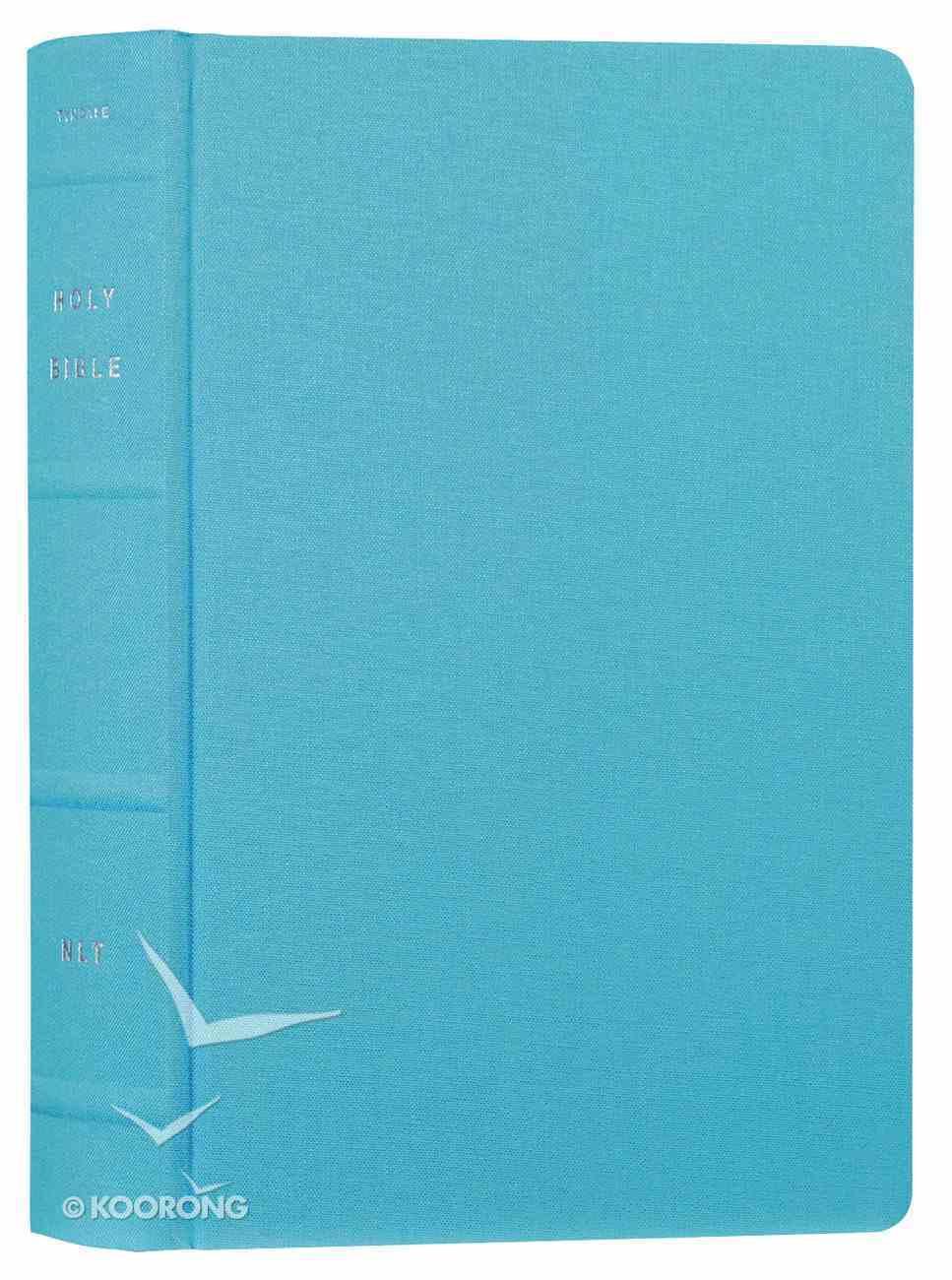 NLT Reflections Bible Ocean Blue (Black Letter Edition) Fabric Over Hardback