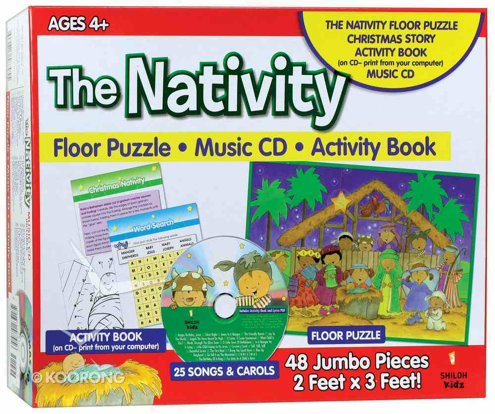 Giant Floor Puzzle With CD: Nativity Box