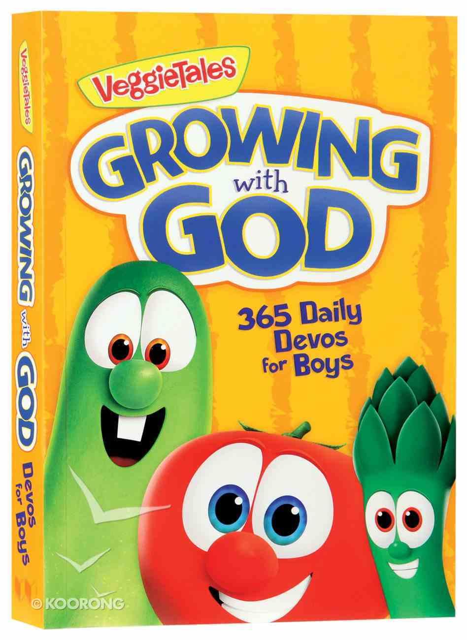 Growing With God: 365 Daily Devos For Boys (Veggie Tales (Veggietales) Series) Paperback