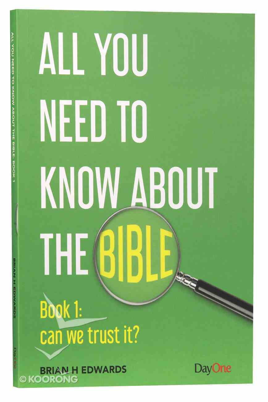 Can We Trust It? (#01 in All You Need To Know About The Bible Series) Paperback