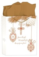 Christmas Gift Bag Large: Inspiring Ornaments (James 1:17) (Incl Tissue Paper & Gift Tag) Stationery