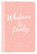 2019 16-month-weekly Planner: Whatever Is Lovely Pink/white Dots Luxleather image