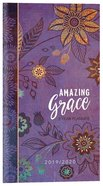 2019/2020 2 Year Pocket Planner: Amazing Grace (Purple With Orange Flowers) image