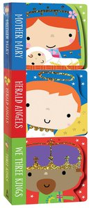 Product: Nativity Mini Board Book Stack (Set Of 3): Mother Mary, Herald Angels, We Three Kings Image