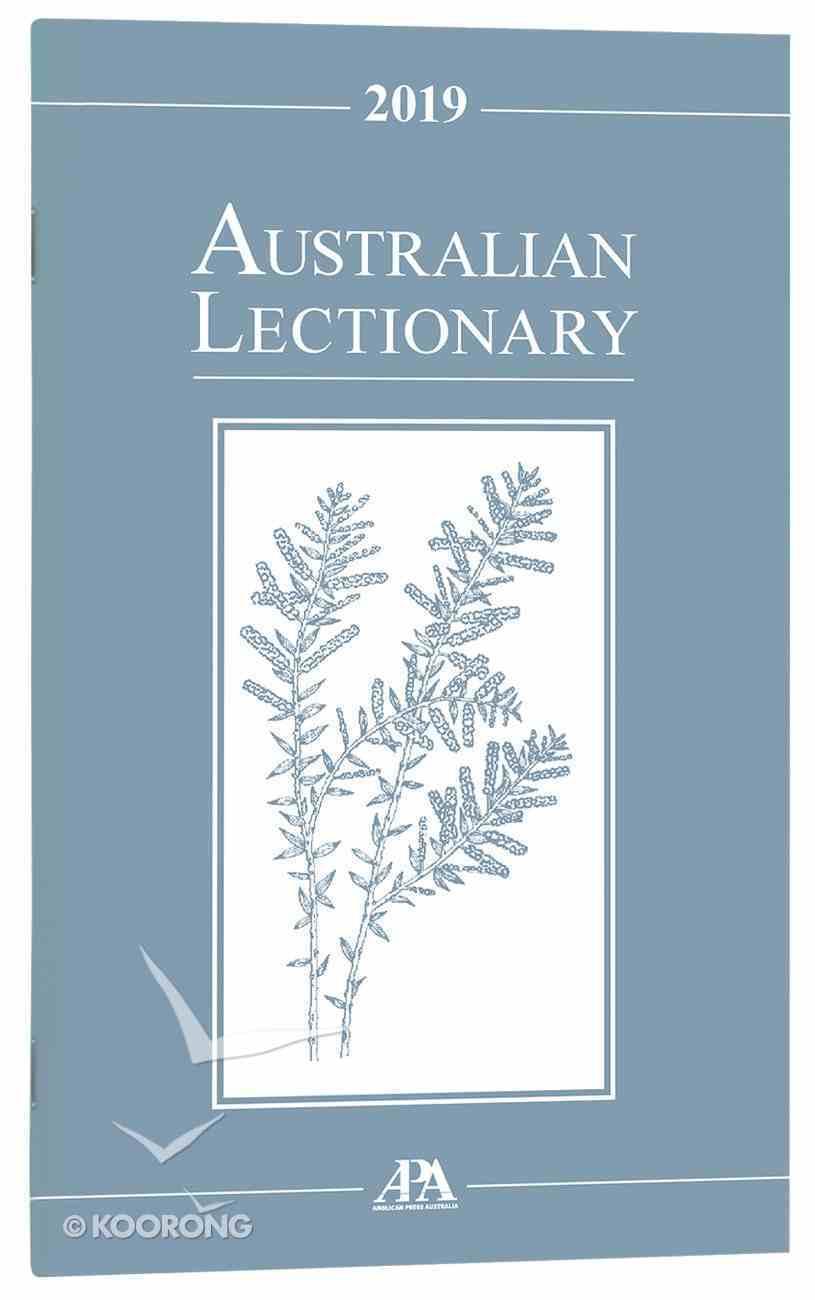2019 Australian Lectionary An Australian Prayer Book (Year C) Paperback