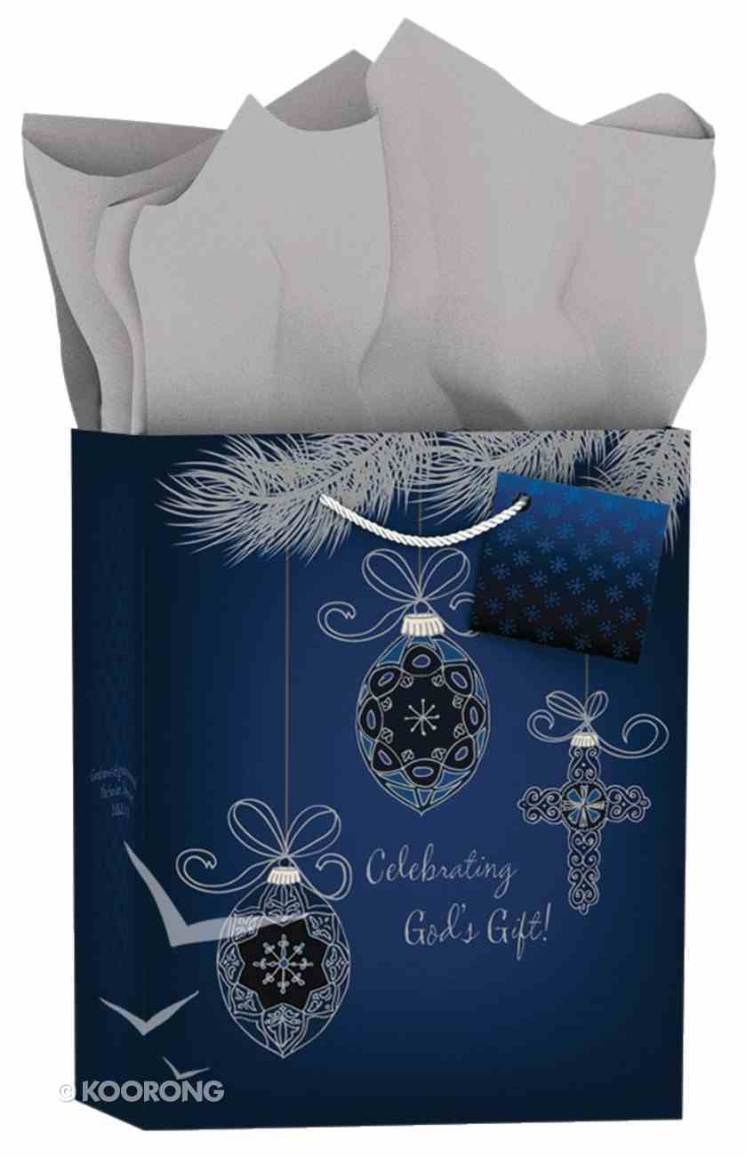 Christmas Gift Bag Medium: Inspiring Ornaments - Celebrating God's Gift Stationery