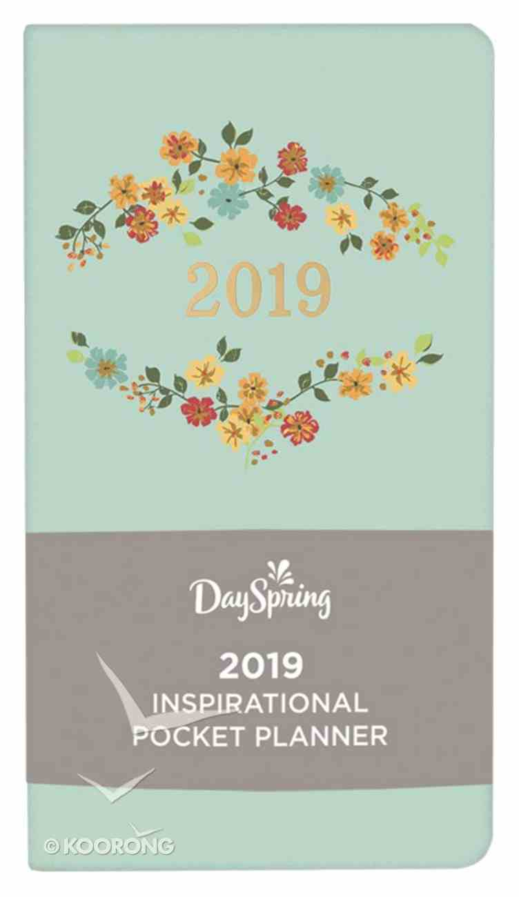 2019 Premium Pocket Weekly Diary/Planner: Farmhouse, Light Blue/Floral, Back to Basics Collection Paperback