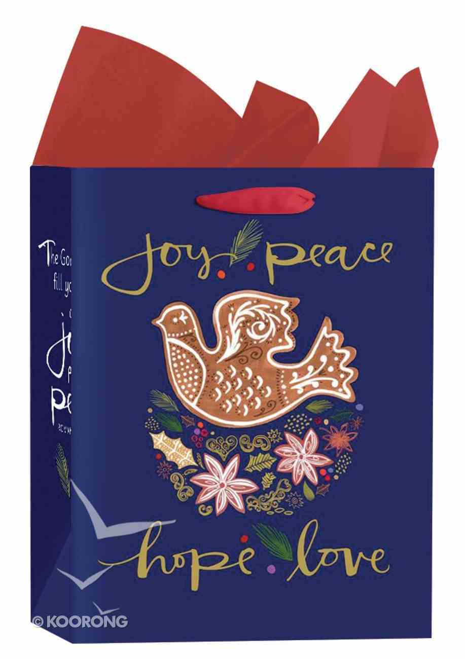 Christmas Gift Bag Medium: Dove - Joy, Peace, Hope, Love (Romans 15:13 Kjv) Stationery