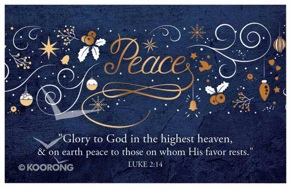 Christmas Pass-Around Cards: Peace Navy Gold Festive (25 Pack) Cards