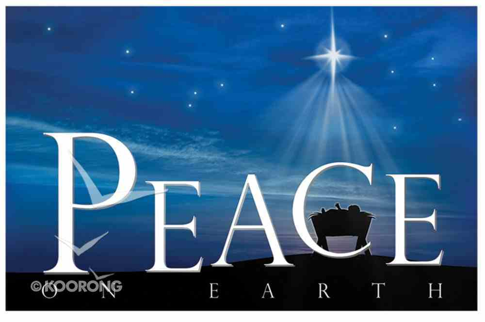 Christmas Pass-Around Cards: Peace on Earth Manger (25 Pack) Cards
