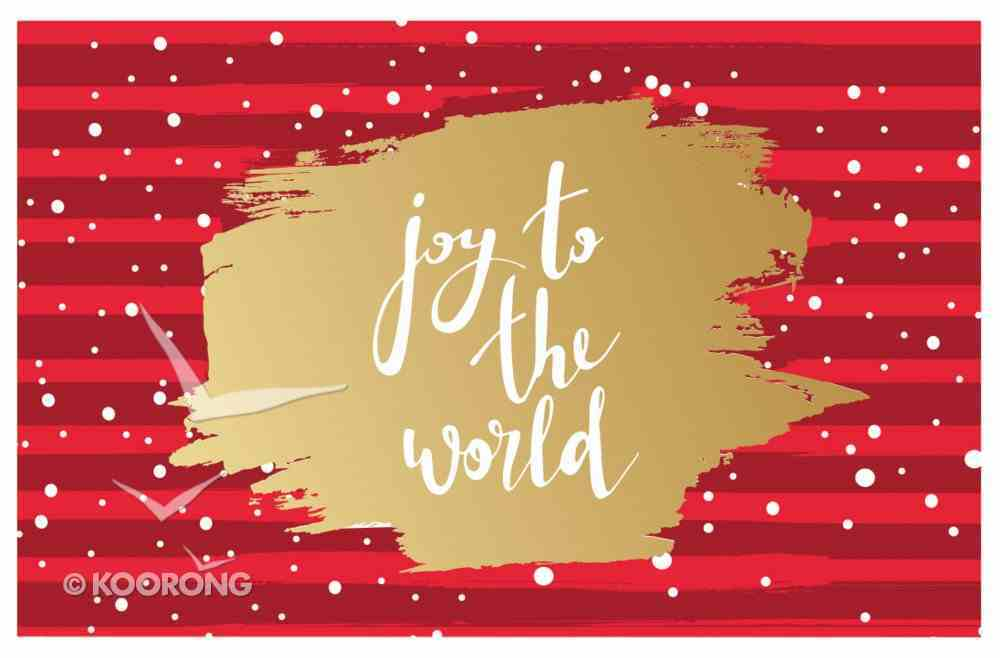 Christmas Pass-Around Cards: Joy to the World (25 Pack) Cards