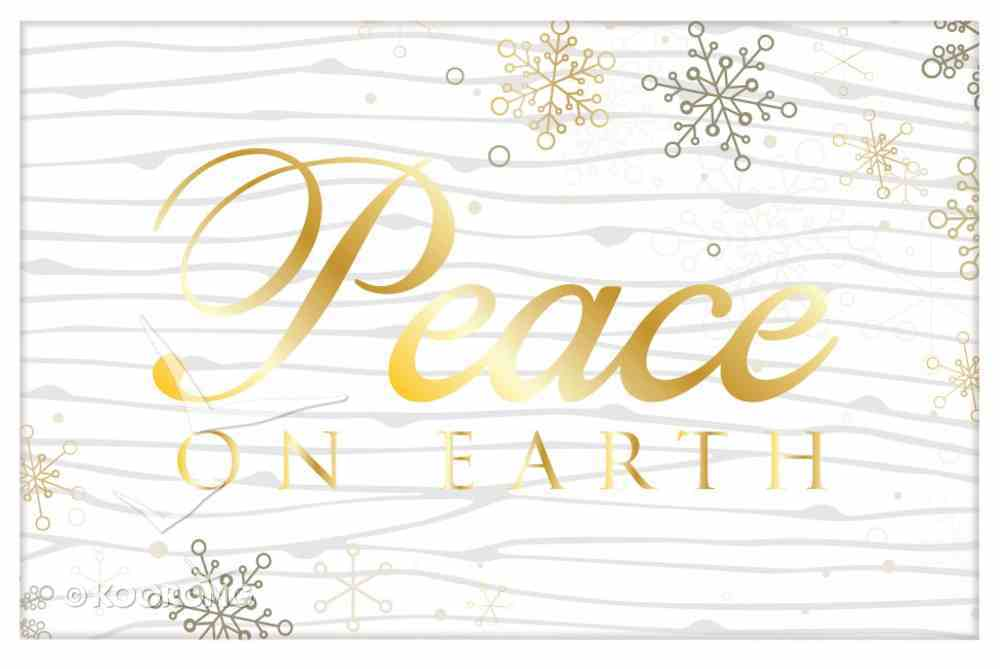 Christmas Pass-Around Cards: Peace on Earth Gold Snowflake (25 Pack) Cards