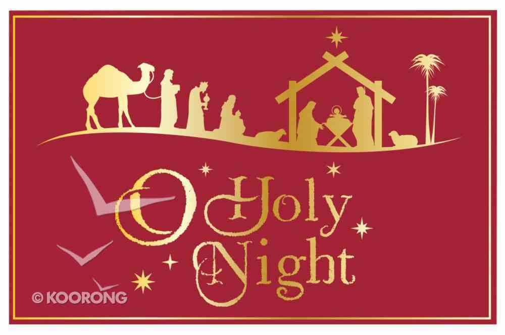 Christmas Pass-Around Cards: O Holy Night Nativity (25 Pack) Cards