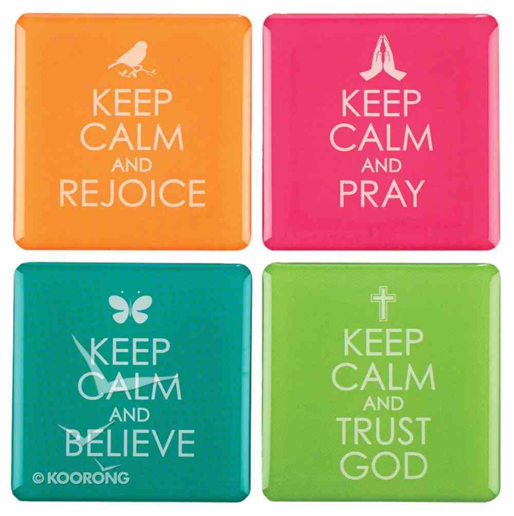Magnetic Set of 4 Magnets: Keep Calm Novelty