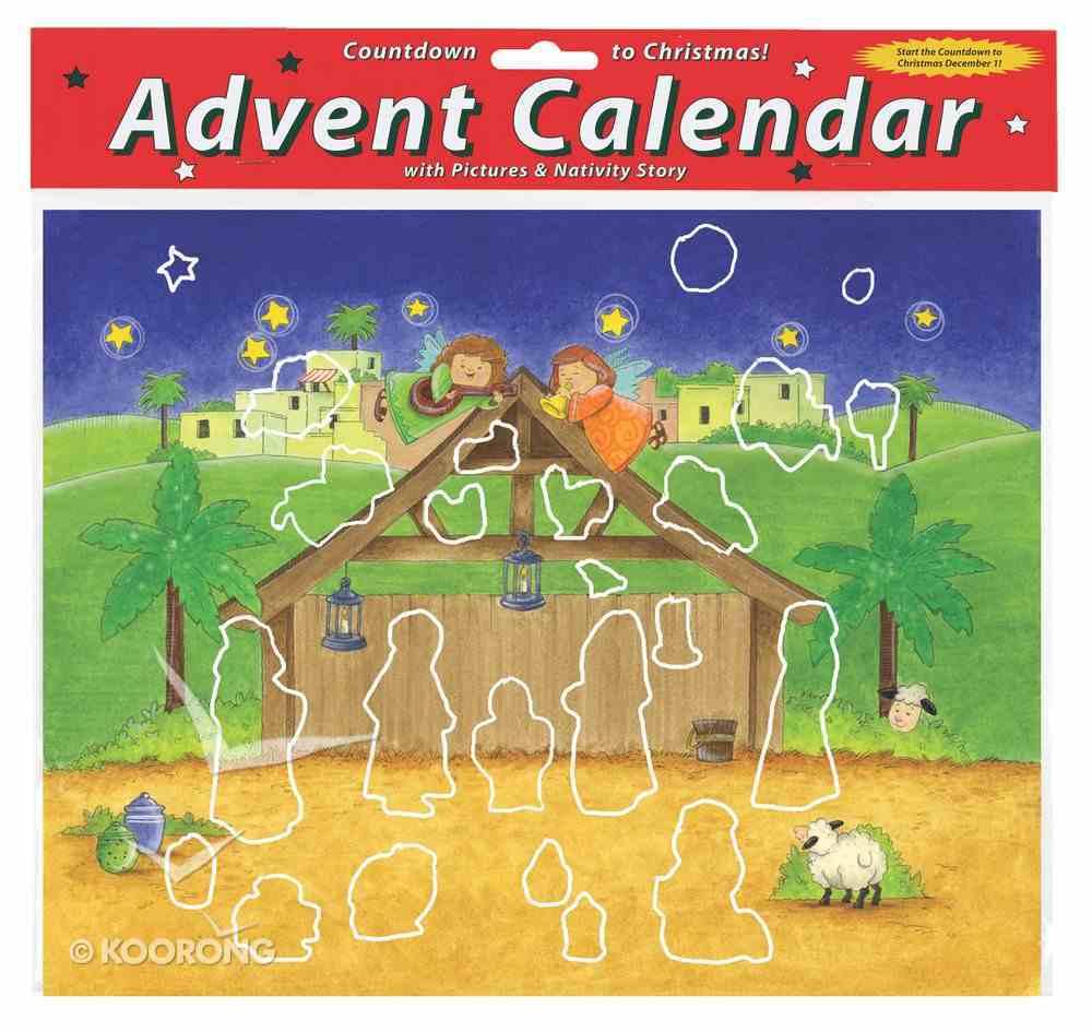 Advent Calendar With Stickers: Magnificent Manger Calendar