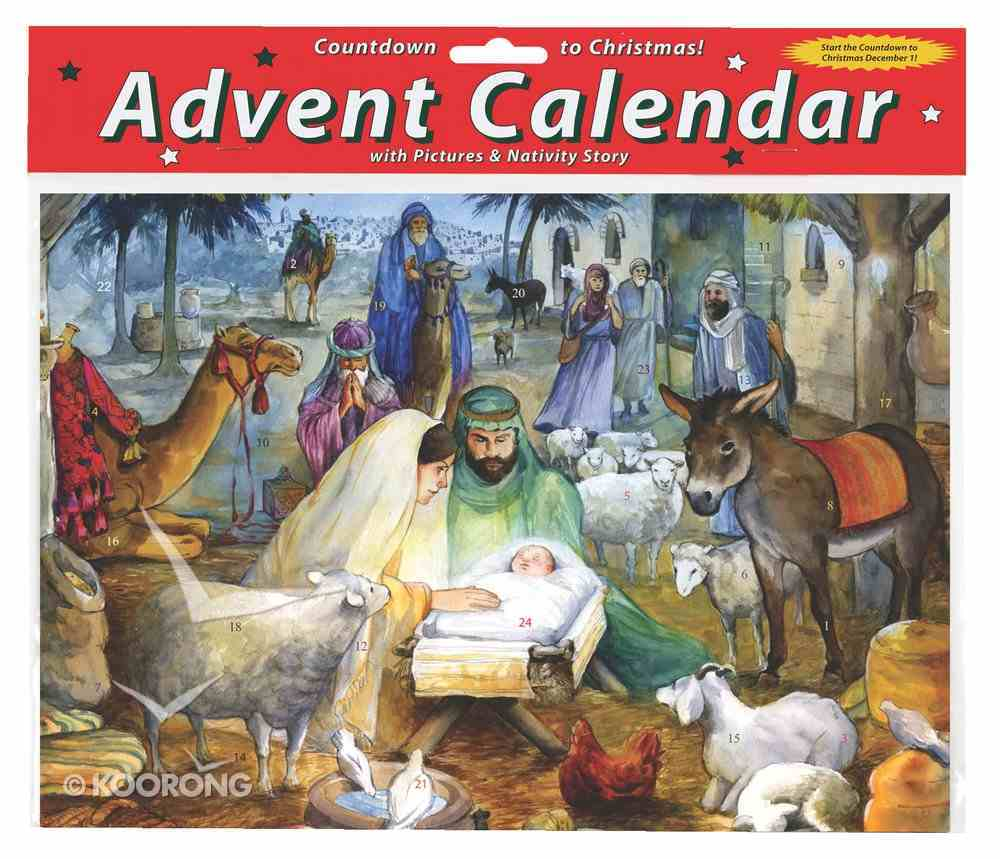 Advent Calendar: Newborn Child, Glitter Calendar